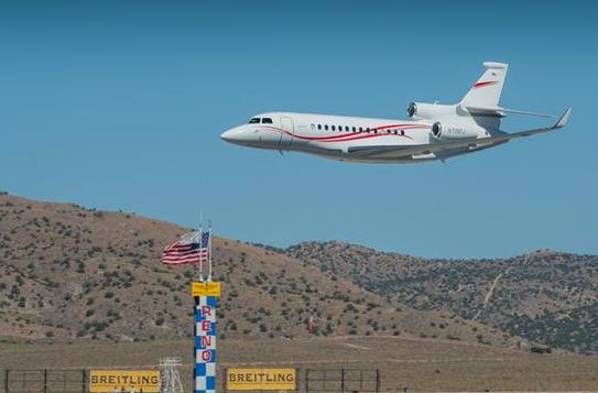 Dassault Falcon 7x at Reno air races