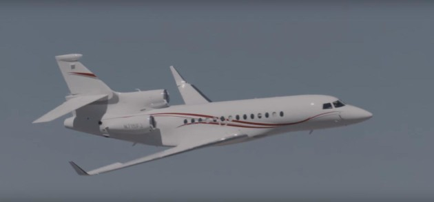 Dassault Falcon 7x at the Reno Air Races