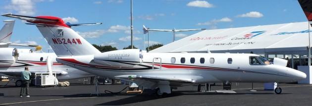 The Citation CJ4 is a light jet