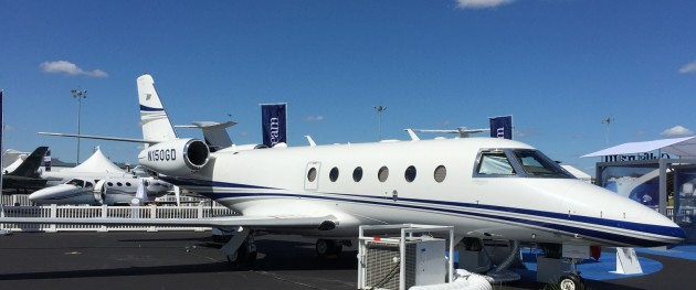 The Gulfstream G150 is a midsize jet