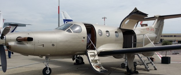 The Pilatus PC-12 is a single engine turboprop