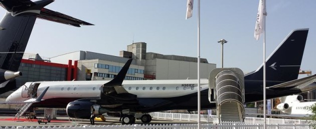 Embraer Lineage 1000 exterior at EBACE 2014