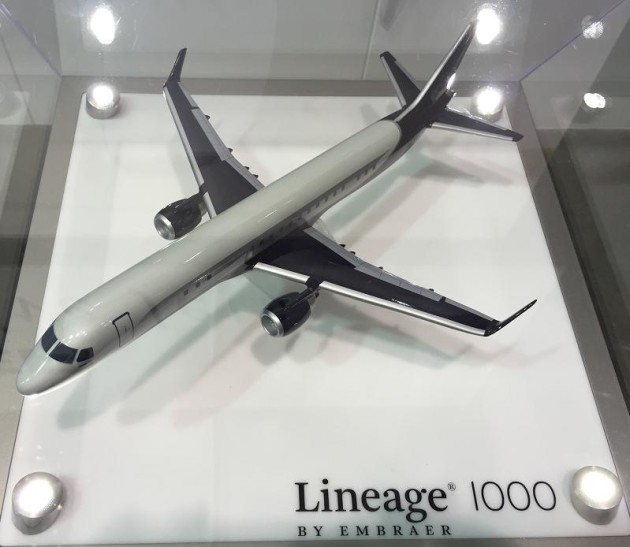 Embraer Lineage 1000 model at NBAA