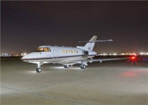 Charter a midsize Hawker 800XP to the Super Bowl