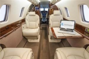Super mid jet: Cessna Citation X interior cabin