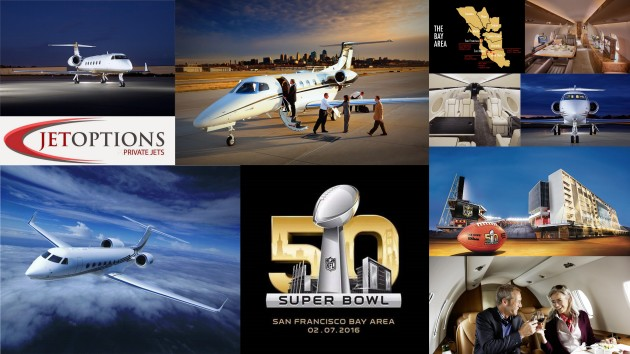 Charter a private jet for Super Bowl 50 from JetOptions
