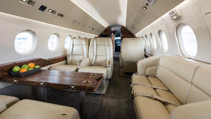 Falcon 2000LX Jet Interior