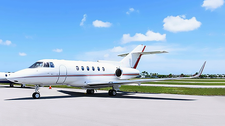 Hawker 800 Jet Exterior