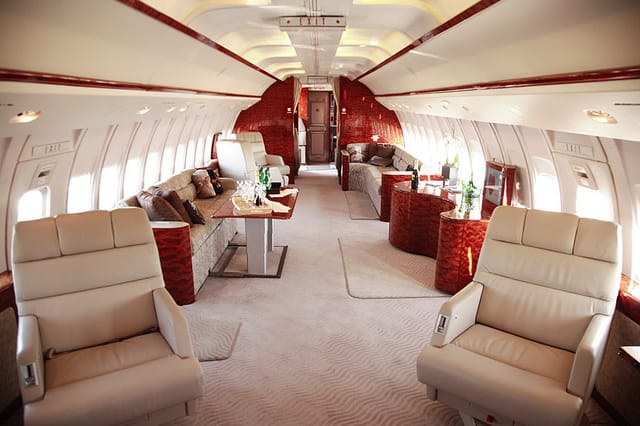 Boeing Business Jet BBJ Jet Interior