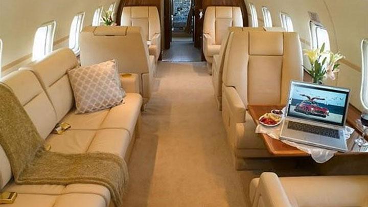 Challenger 601 Jet Interior