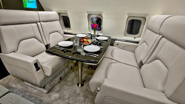 Challenger 604 Jet Interior