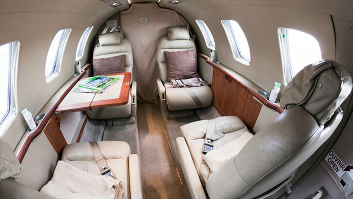 Citation Jet 1 or CJ1 Jet Interior