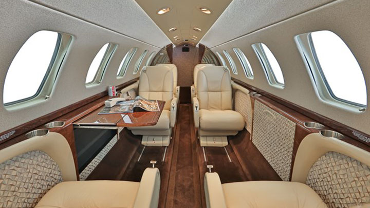 Citation CJ3 Jet Interior