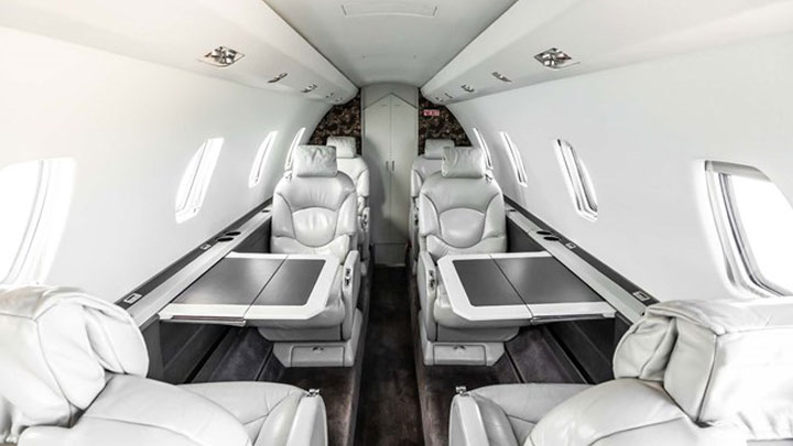 Citation Excel Jet Interior