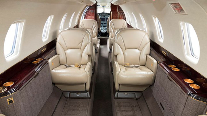 Citation X Jet Interior