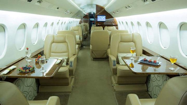 Falcon 2000 Jet Interior