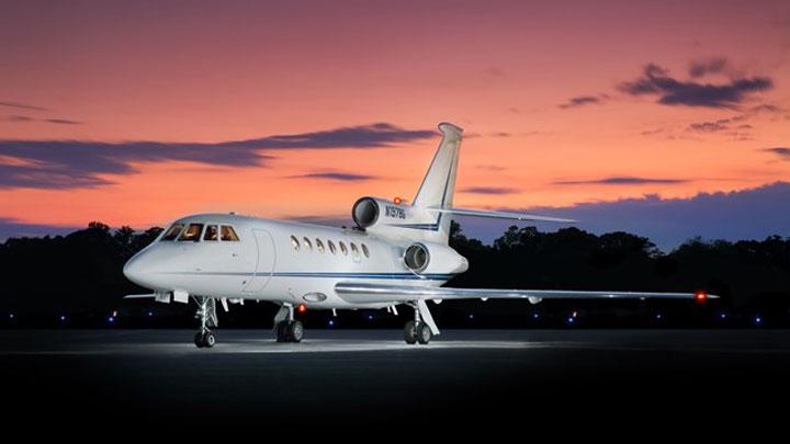 Falcon 50 Jet Exterior