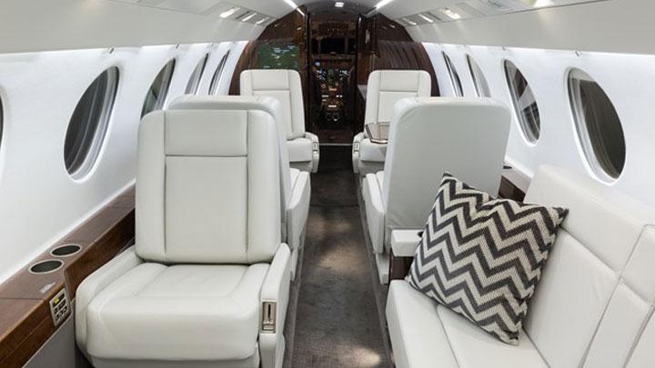 Falcon 50 Jet Interior