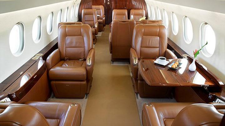 Falcon 900EX Jet Interior