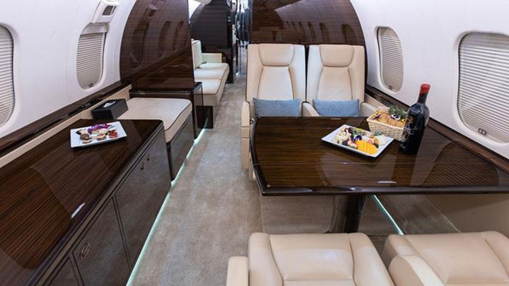 Global 5000 Jet Interior