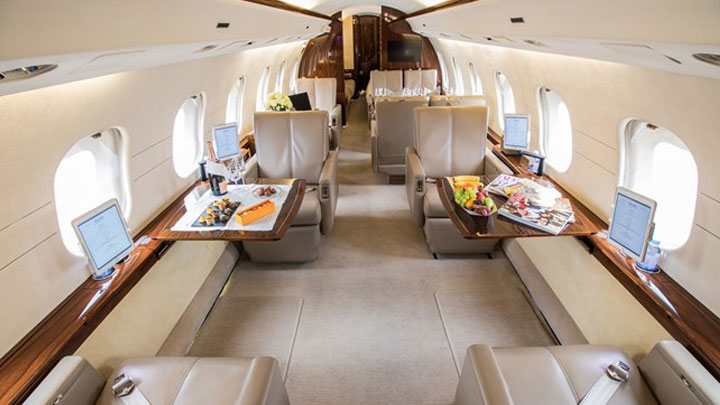 Global Express Jet Interior