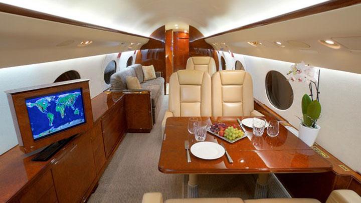 Gulfstream IV Jet Interior
