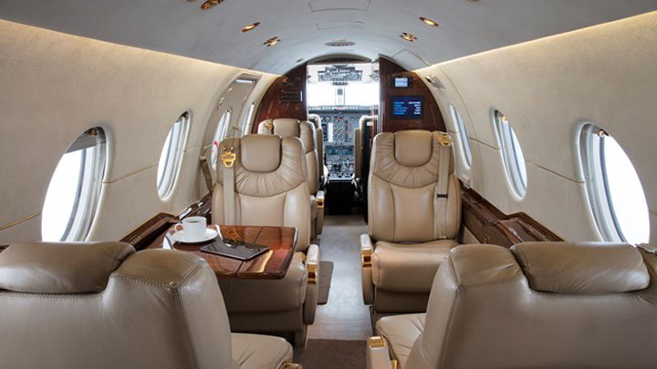 Hawker 400XP Jet Interior