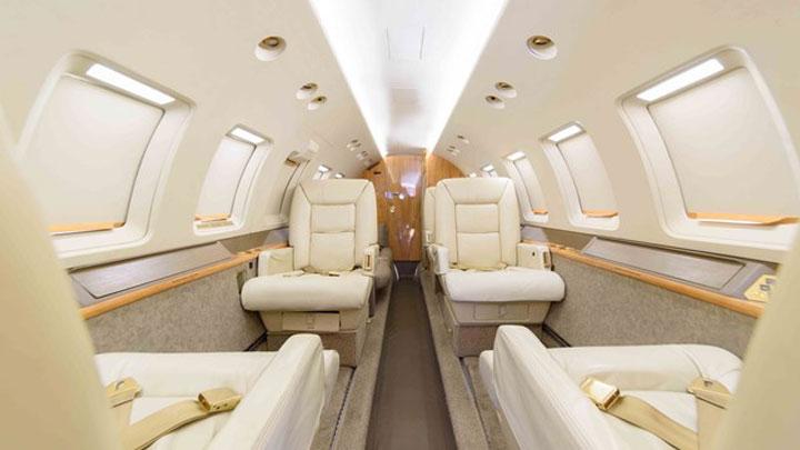Hawker 800 Jet Interior