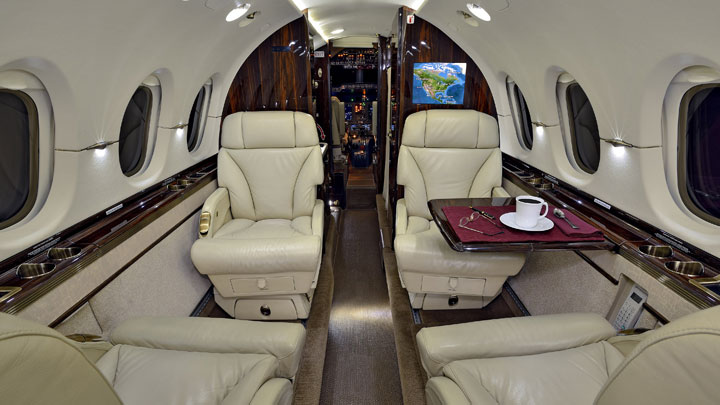 Hawker 850XP Jet Interior