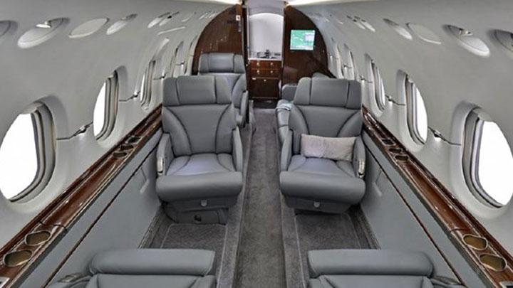 Hawker 900XP Jet Interior
