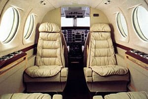 King Air 90 Jet Interior