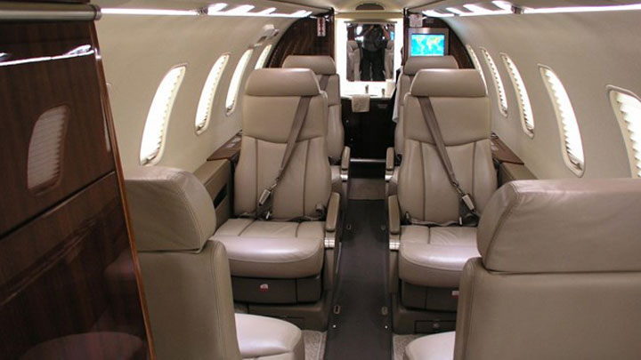 Learjet 40XR Jet Interior
