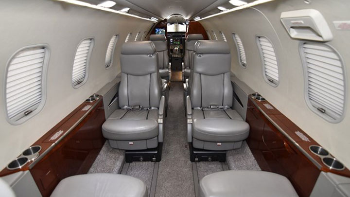 Learjet 45XR Jet Interior
