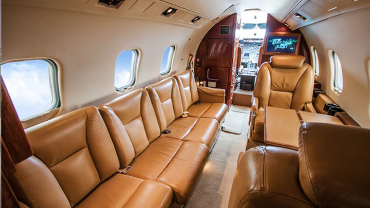 Learjet 55 Jet Interior