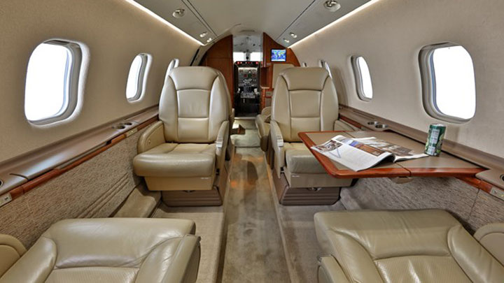 Learjet 60 Jet Interior