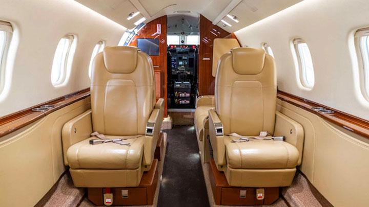 Learjet 60XR Jet Interior