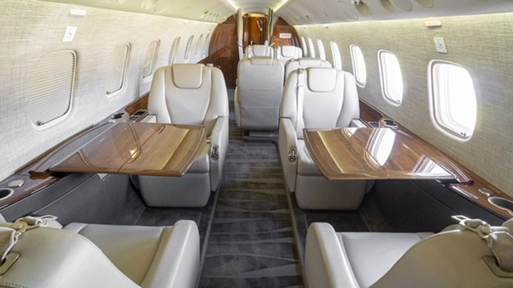 Legacy 650 Jet Interior