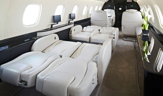 Charter a Legacy 650 Jet from JetOptions