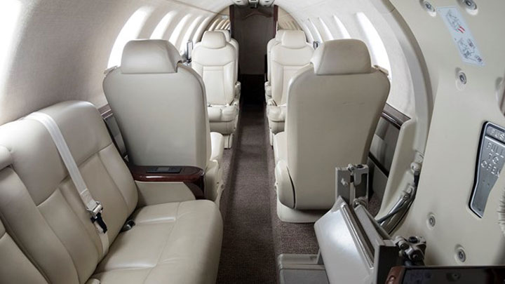 Citation CJ4 Jet Interior