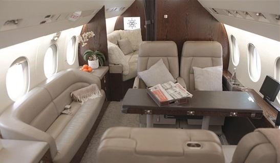Falcon 900LX Jet Interior