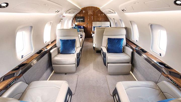 Challenger 650 Jet Interior