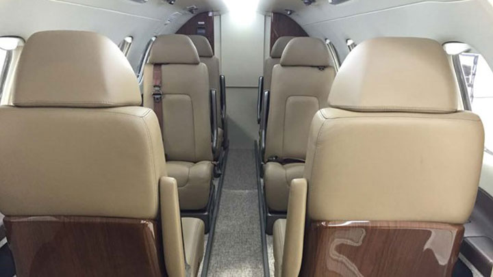 Phenom 300 Jet Interior