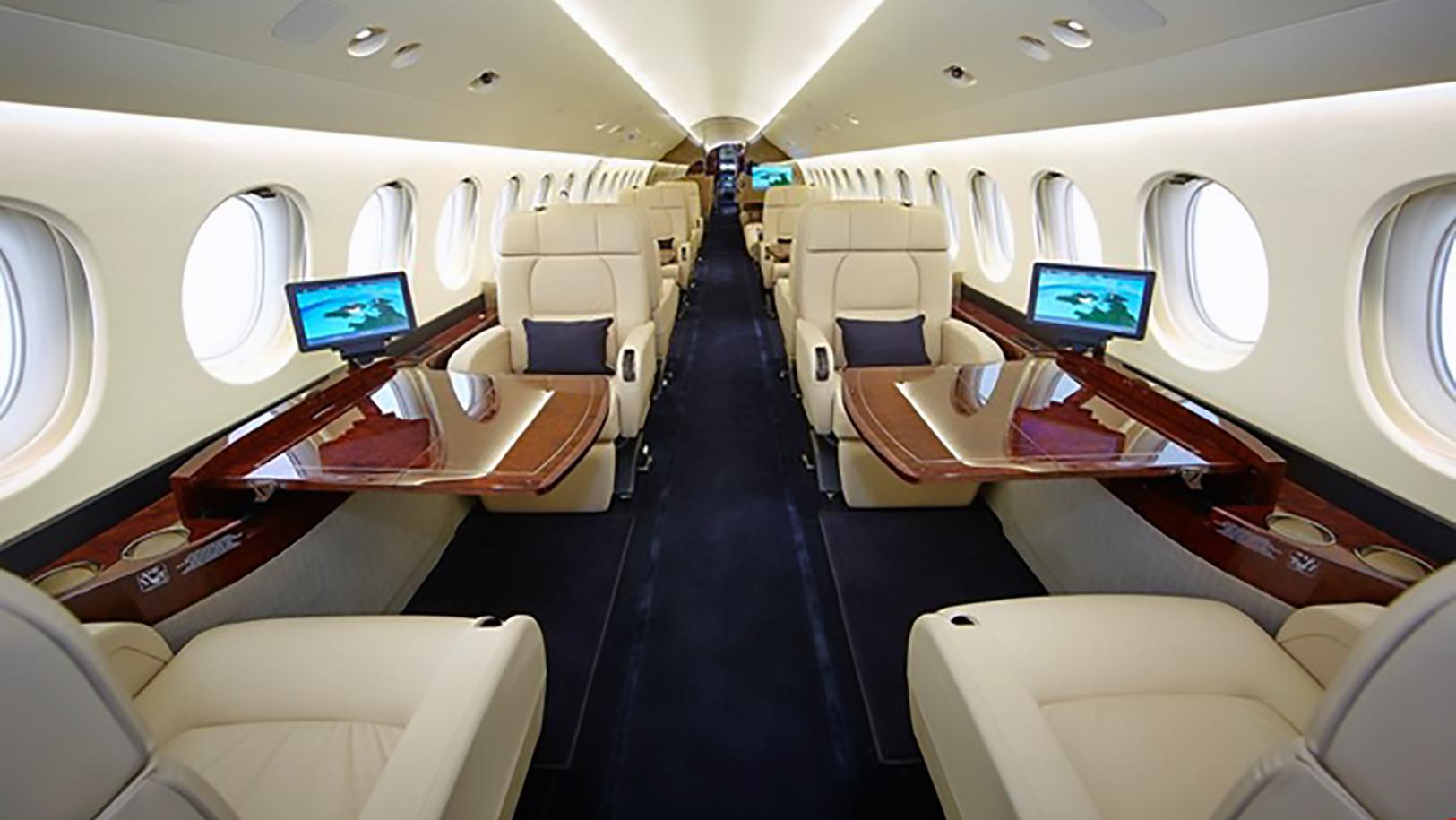 Falcon 7X Jet Interior