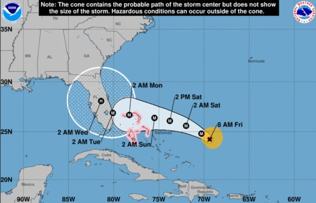 Hurricane Dorian Probable Path to Florida