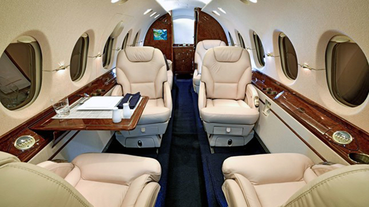 Hawker 800XP Jet Interior