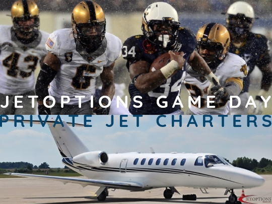 Private Jet Charter for College Football and Game Day