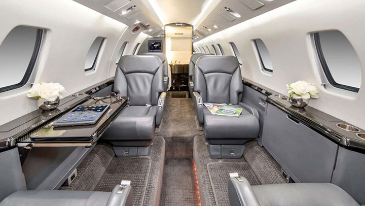 Citation VII Jet Interior