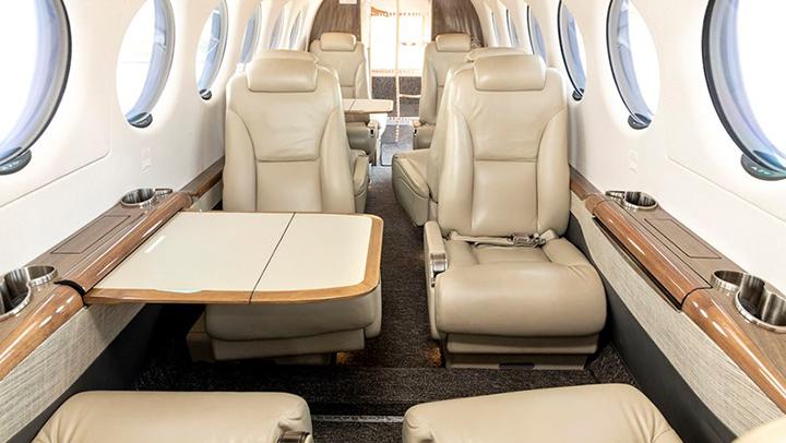 King Air 350 Jet Interior