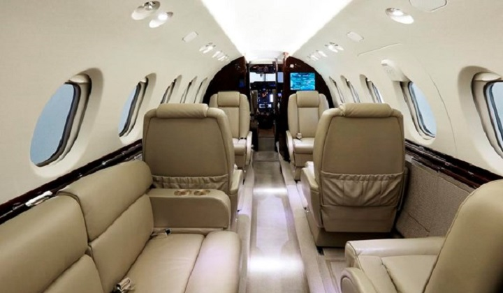 Hawker 750 Jet Interior