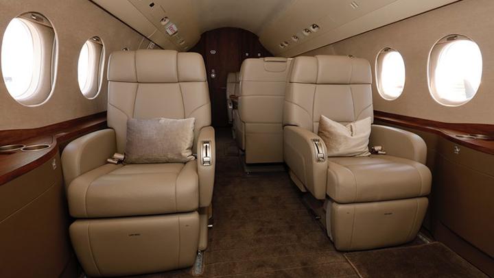 Falcon 2000S Jet Interior